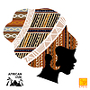 Silhouette der Kopf eines afrikanischen Mädchens