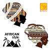 Silhouetten der Kopf eines afrikanischen Mädchen