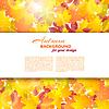 Векторный клипарт: Осенний фон с кленовыми листьями и другими. Духов