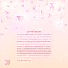 Векторный клипарт: Романтические лепестки роз текстуры с фиолетовыми цветами.