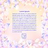 Векторный клипарт: Яркий текстура с лепестками цветов.