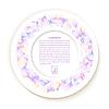 Векторный клипарт: Круглый бумаги с цветок аппликацией текстуры. Ve