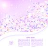 Векторный клипарт: Абстрактный фиолетовый цветочный фон с поля для