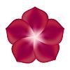 Векторный клипарт: Красный цветок,
