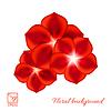 Векторный клипарт: Набор красных цветов. Illustra