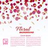 Векторный клипарт: Романтический текстуры с цветочными лепестками и листьями на