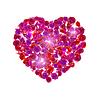 Векторный клипарт: Сердце из закрывается розовые цветы.