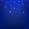 Векторный клипарт: Растяжки на синем фоне с размышлениями.
