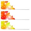 Set von drei Flyer Herbst Thema mit Laub.
