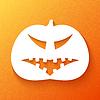 Halloween. Kürbis mit finsteren Gesichts