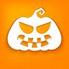 Halloween. White Silhouette der Kürbis mit siniste