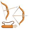 Bogen und Pfeile Köcher und Pfeile in