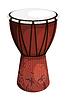 Tomtom Trommel Braun Design Stammes mit Palmen und