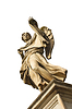 Angel with Sudarium (Veronicas Veil) on bridge of | Stock Foto