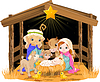 Heilige Familie an Weihnachten Nacht