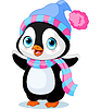Netter Winter-Pinguin