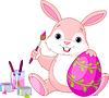 Häschen-Malerei Easter Egg