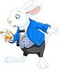 White Rabbit mit Taschenuhr
