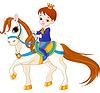 Kleine Prinz auf Pferd