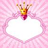 Prinzessin rosa Rahmen