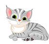 Nette graue Katze