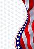 Amerikanische Flagge als Grunge-Hintergrund