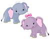 Zwei Babys Elefanten