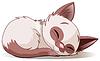 Gatito durmiendo | Ilustración vectorial