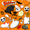 Halloween-Comic-Sprechblasen