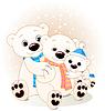 Eisbären-Familie