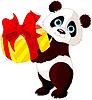 Векторный клипарт: День рождения Панды