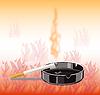 Banner Zigarette - Brandgefahr