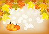 Векторный клипарт: Осенний праздник тыквы открытку