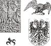 Set der heraldischen Adler