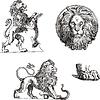 Satz von heraldischen Löwen | Stock Vektrografik