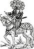 Quartiermeister auf einem Pferd