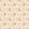 Nahtlose Ostern Hintergrund mit Eiern