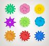 Векторный клипарт: Набор абстрактных цветов