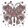 Schmetterling mit wirbelnden dekorativen Ornament