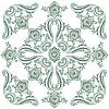 Flora Vintage-Muster, dekorative Ornament-Motiv