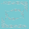 Векторный клипарт: Кадр каллиграфический цветочный узор закрученного