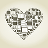 Buchen Herzen