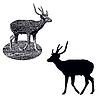 Векторный клипарт: Пятнистые олени
