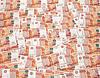 Haufen von fünftausend russische Rubel-Banknoten als | Stock Foto