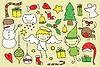 Kinder Weihnachten doodle