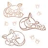 Gatos durmiendo | Ilustración vectorial