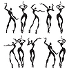 Abstrakt tanzenden Figuren