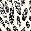 Ethnic Feather. Nahtlose Hintergrund