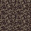 Nahtloser Hintergrund mit Tassen Kaffee | Stock Vektrografik
