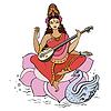 Hindu-Göttin Saraswati